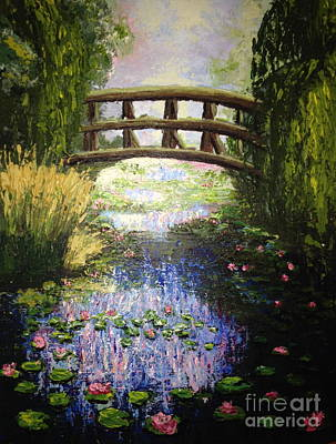 Monet's Bridge Art Print