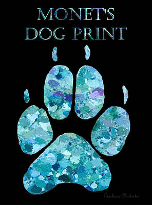 Painting - Monet's Dog Print by Barbara Chichester