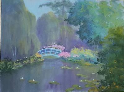 Painting - Monet's Garden by Judy Fischer Walton