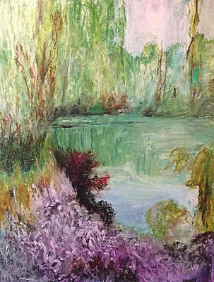 Painting - Monets Garden by Arna Vodenos