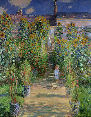 Painting - Monet's Garden At Vetheuil by Claude Monet