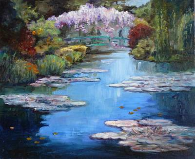 Monet's Garden In Giverny Art Print