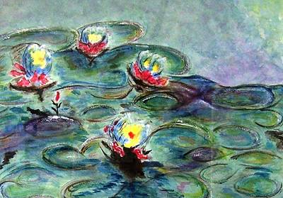 Painting - Monet's Lilies On Pond by Jamie Frier