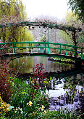 Garden Bridge Photograph - Monet's Magical Bridge by Susie Weaver