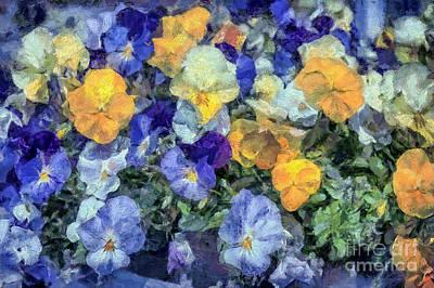 Monet's Pansies Art Print