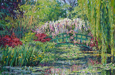 Painting - Monets Pond In Spring by L Diane Johnson