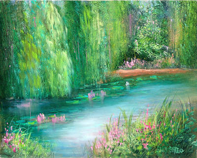 Monet's Pond Art Print by Sally Seago