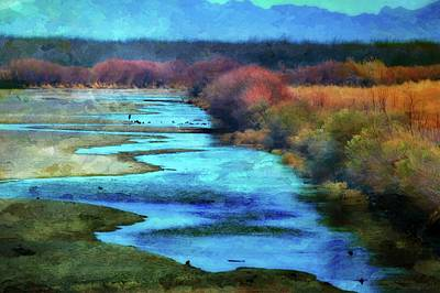 Grande Painting - Monets Rio Las Cruces New Mexico by Barbara Chichester