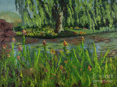 Painting - Monet's Water Lily Pond by Linda Riesenberg Fisler