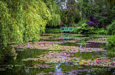 Impressionist Photograph - Monet's Waterlily Pond, Giverny, France by Liesl Walsh