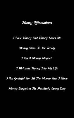 6 Powerful Money Affirmations Art Print
