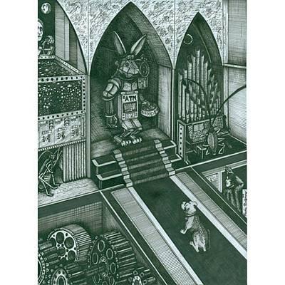 Money Bunny  #electrickoolaidart Art Print