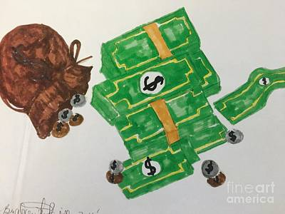 Drawing - Money  by Charita Padilla
