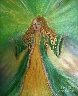 Painting - Money Deva by Bernadette Wulf