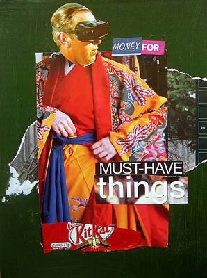 Mixed Media - Money For Must Have Things by Adam Kissel