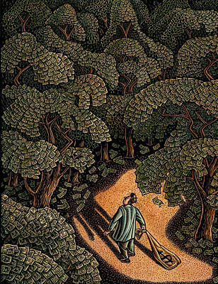 Money Forest Art Print