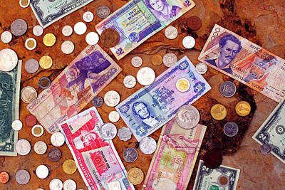 Aruba Photograph - Money From Around The World by Thomas R Fletcher