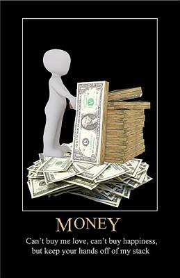 Digital Art - Money by John Haldane