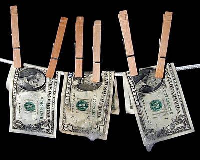 Soap Wall Art - Photograph - Money Laundering by David April
