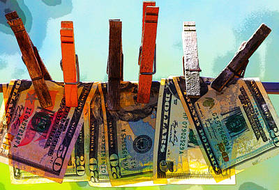 Digital Art - Money Laundering  by Karon Melillo DeVega