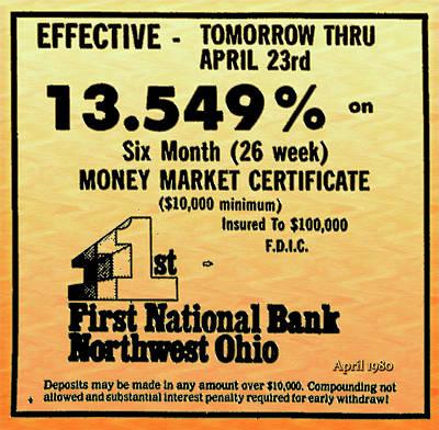 Digital Art - Money Market Certificate Ad 1980 by Carlos Diaz