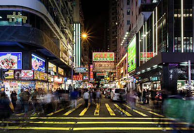 Photograph - Mong Kok Crosswalk by Geoffrey C Lewis
