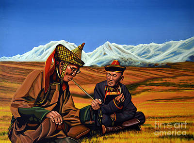 The Horse Painting - Mongolia Land Of The Eternal Blue Sky by Paul Meijering