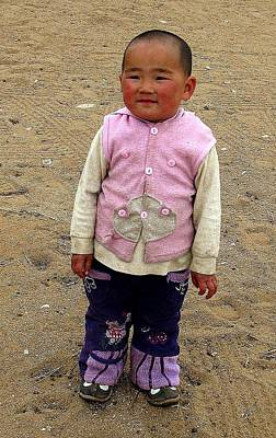 Photograph - Mongolian Child by Diane Height