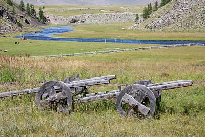Photograph - Mongolian Ox Carts by Hitendra SINKAR
