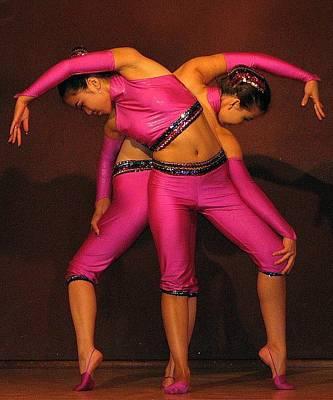 Mongolian Women Dancers Art Print by Diane Height