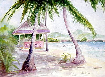 Painting - Mongoose Beach Bar by Diane Kirk