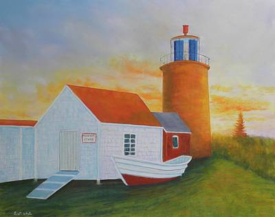 Painting - Monhegan Light by Scott W White