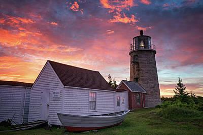 Photograph - Monhegan Lighthouse by Darylann Leonard Photography