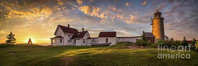 Photograph - Monhegan Lighthouse Panorama by Benjamin Williamson