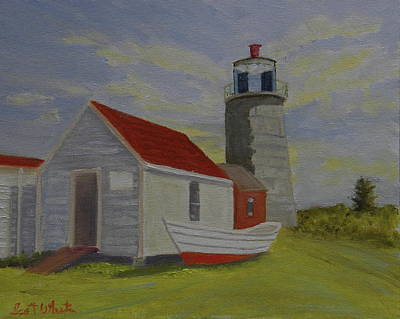 Painting - Monhegan Lighthouse Study by Scott W White