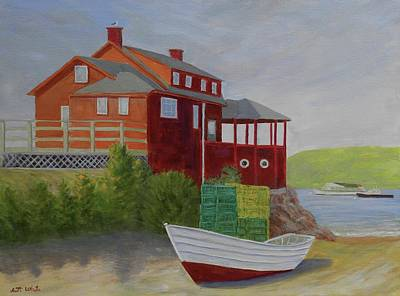 Painting - Monhegan Red by Scott W White