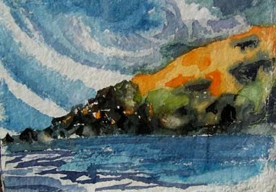 Monhegan Sky Art Print by Patricia Bigelow