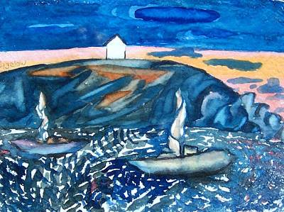 Monhegan Sunset Art Print by Patricia Bigelow