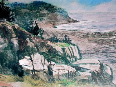 Monhegan Trail Art Print by Don Getz