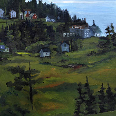 Painting - Monhegan View From Lighthouse Hill by J R Baldini