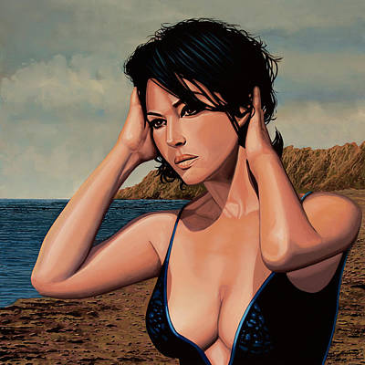 The Matrix Painting - Monica Bellucci 2 by Paul Meijering
