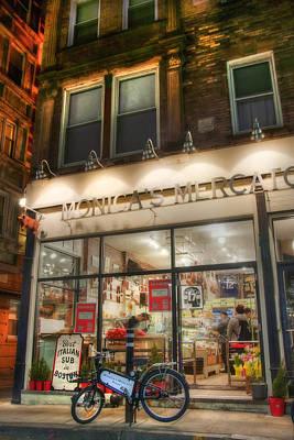 Monica's Mercato - Boston North End Store Front Art Print by Joann Vitali