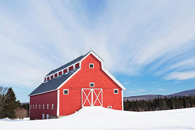 Photograph - Monitor Barn Landscape by Alan L Graham