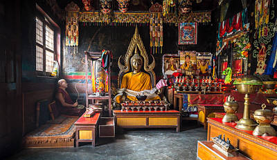 Kathmandu Monk Art Print
