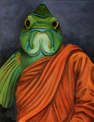 Art Print featuring the painting Monk Fish by Leah Saulnier The Painting Maniac