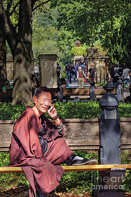 Photograph - Monk In Central Park, New York City  -79520 by John Bald