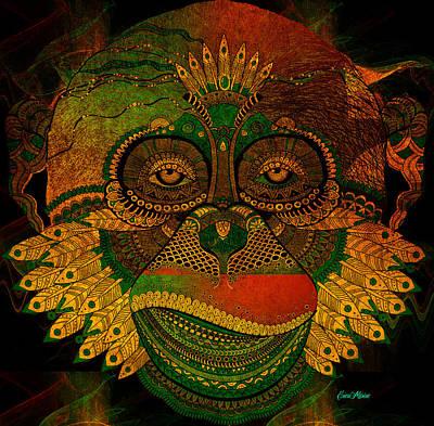 Digital Art - Monkey 786 by Ericamaxine Price