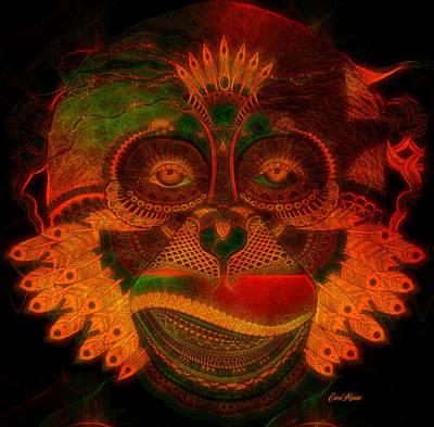 Digital Art - Monkey 787 by Ericamaxine Price