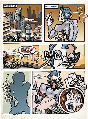 Manga Digital Art - Monkey Boy Page 1 by Karl Frey