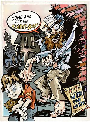 Manga Digital Art - Monkey Boy Page 2 by Karl Frey